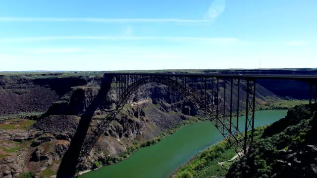 twin falls perrine bridge 2 (4k) - river snake stock videos & royalty-free footage