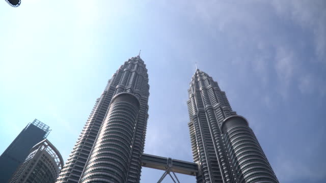 twin tower malaysia - kuala lumpur stock videos & royalty-free footage