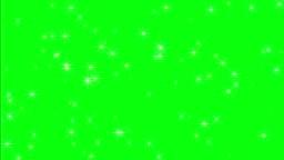 Twinkling Stars On Green Screen