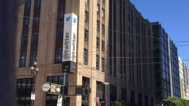 twitter announces it will partner with mlb and nhl to lifestream games broll footage of twitter headquarters - 本部点の映像素材/bロール