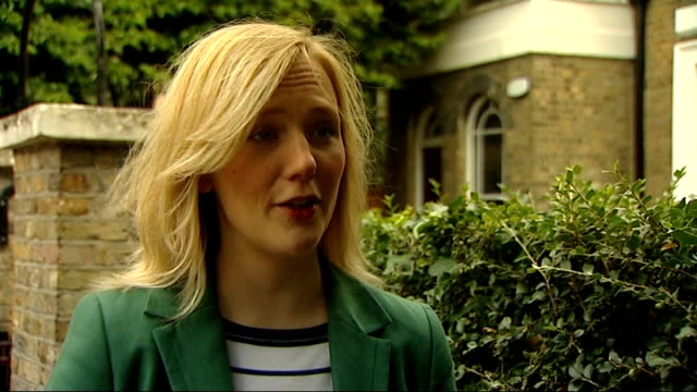 Twitter apologises to women threatened on the site London Walthamstow EXT Walthamstow and reporter looking at mobile phone Stella Creasy MP interview...