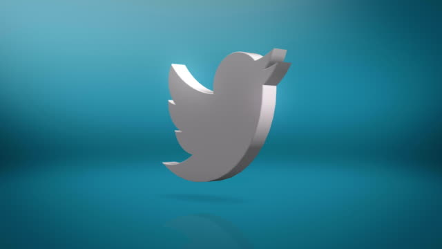 twitter icon motion background - messaggistica online video stock e b–roll