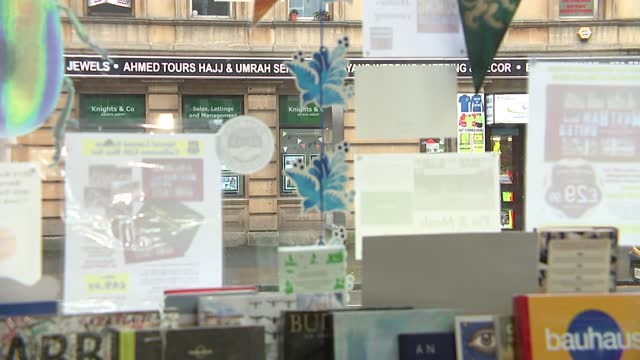 twitter rallies for independent bookshop; england: london: east ham: newham bookshop: int gvs books for sale on display including 'we do lockdown' - itv london lunchtime news stock videos & royalty-free footage