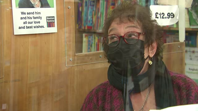 twitter rallies for independent bookshop; england: london: east ham: newham bookshop: int vivian archer interview sot cutaways gvs posters and books... - itv london lunchtime news stock videos & royalty-free footage