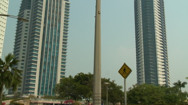 two administrative buildings in putrajaya - putrajaya stock videos & royalty-free footage