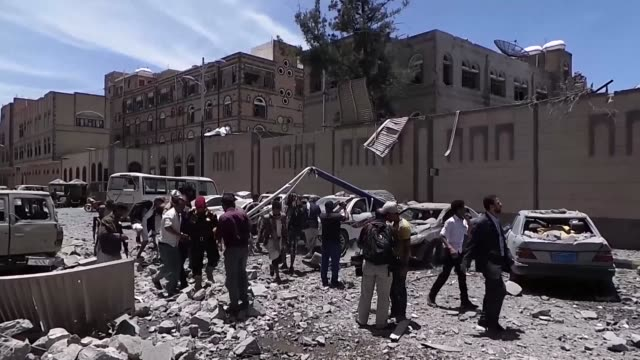 Two air raids target the office of the presidency in Yemen's rebel held capital Sanaa leaving at least six people killed and 30 wounded