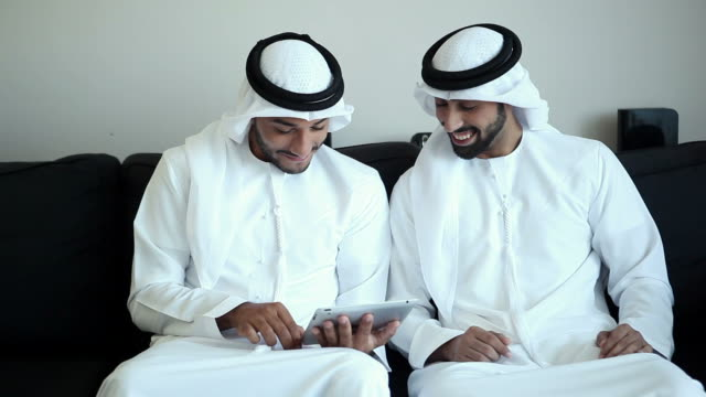 two arab man surfing the net - middle eastern ethnicity stock videos and b-roll footage