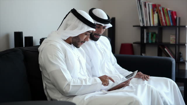 Two Arab Man Surfing The Net