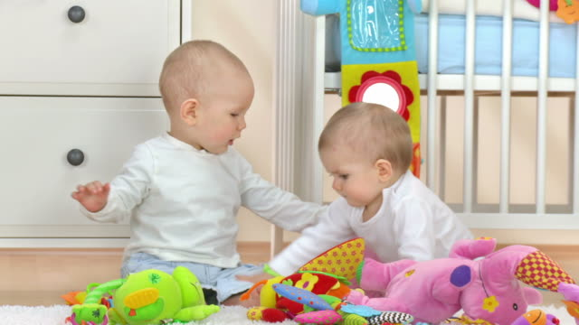 hd: two babies fighting - brother stock videos & royalty-free footage