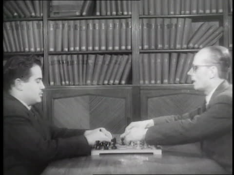 two blind men play chess - chess stock videos & royalty-free footage