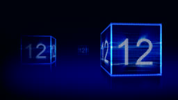 Two Blue Squares and Countdown