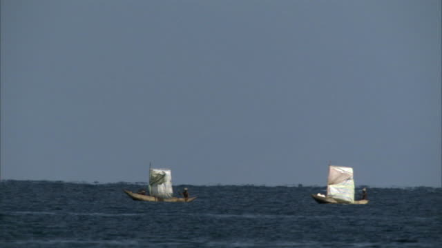 two boats sail on indian ocean, madagascar - sail stock videos & royalty-free footage