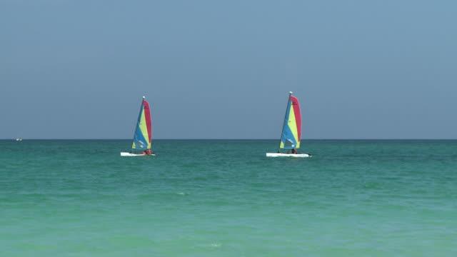 WS, Two boats sailing on sea, Playa del Carmen, Quintanaroo, Mexico