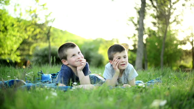 Two boys in the park