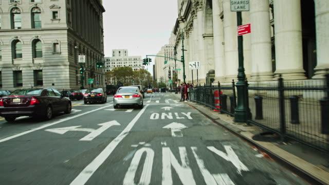 two bridges, manhattan - driving shot - manhattan new york city stock videos & royalty-free footage