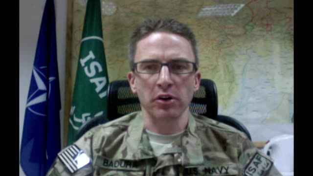 two british servicemen shot dead by member of afghan national army int lieutenant commander brian badura speaking via internet connection sot - afghan national army stock videos and b-roll footage