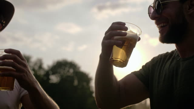 two buddies drinking beer/ katowice/ poland - entertainment event stock videos & royalty-free footage