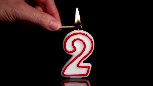 two candle - number 2 stock videos & royalty-free footage