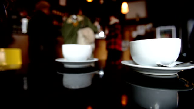 two cappuccini - teaspoon stock videos and b-roll footage