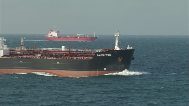 Two Cargo Ships Off French Coast