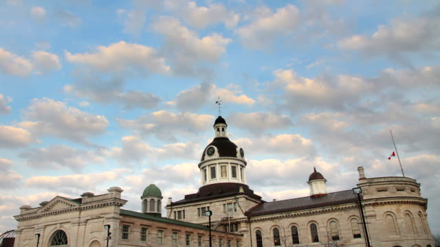 stockvideo's en b-roll-footage met two city hall kingston ontario timelapses - ontario canada