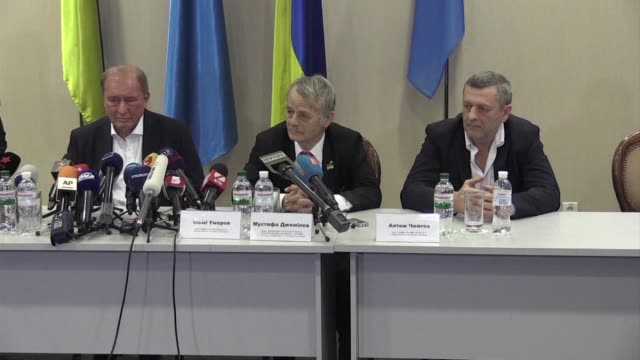 two crimean tatar leaders sentenced for their political activities by russian authorities in the annexed peninsula arrived friday to a rapturous... - peninsula stock videos and b-roll footage