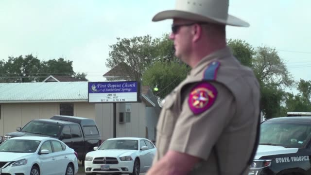 Two days after the mass shooting at a Texas church police are still at the scene