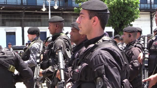 two days ahead of a runoff election in brazil security forces were getting ready in rio de janeiro - runoff election stock videos & royalty-free footage