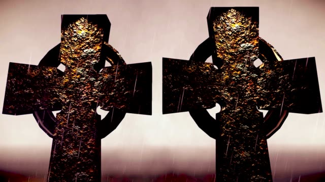 two druids crosses - paganism stock videos and b-roll footage