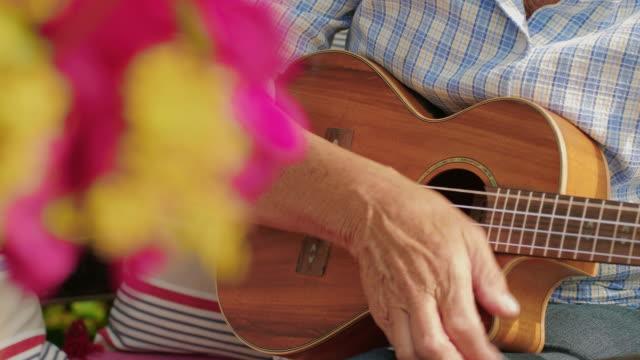 two elderly women playing ukulele - musical instrument stock videos & royalty-free footage