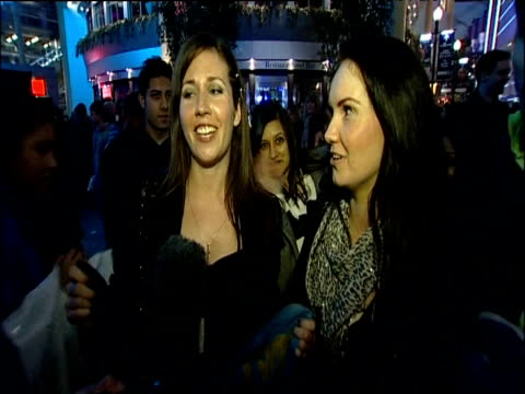 two excited fans talk about their experience after announcement of michael jackson's 'this is it' concert dates london 05 march 2009 - michael jackson stock videos and b-roll footage
