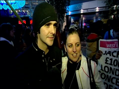 two fans talk to press after announcement of michael jackson's 'this is it' concert dates london 05 march 2009 - michael jackson stock videos and b-roll footage