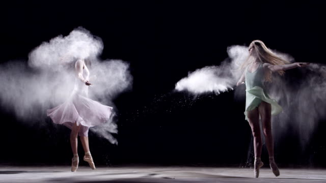 two female ballet dancer in pirouettes - pirouette stock videos and b-roll footage