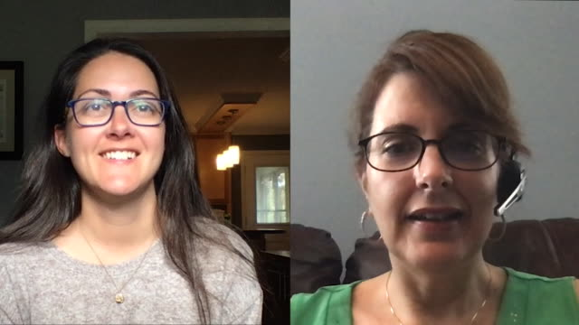 two female colleagues working from home converse while on a video call. - video conference stock videos & royalty-free footage