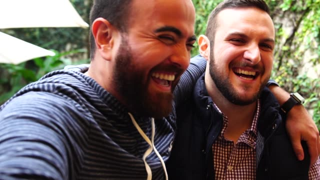 two friends having fun in bbq party - only men stock videos & royalty-free footage