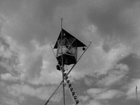 two geometrically designed lookout posts at the festival of britain site 1951 - festival of britain stock videos & royalty-free footage