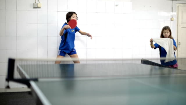 two girls playing table tennis - table tennis stock videos & royalty-free footage