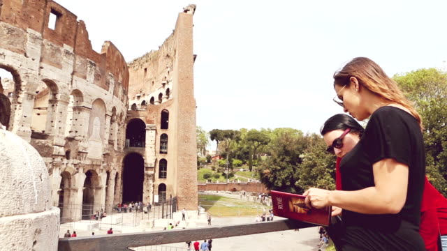 two girls tourist in rome - history stock videos & royalty-free footage