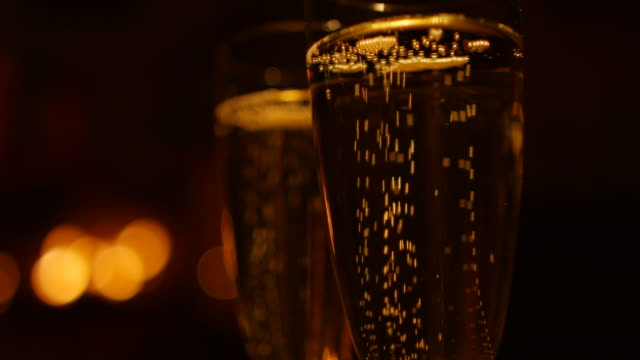 two glasses with champagne - champagne stock videos and b-roll footage