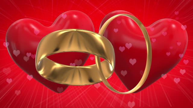 vídeos y material grabado en eventos de stock de dos anillos de oro en bucle de 4 k - two dimensional shape