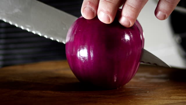 two halfs of red onion - red onion stock videos & royalty-free footage