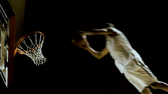 two hand slam dunk - professional sportsperson stock videos & royalty-free footage
