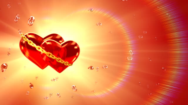 two hearts in love - left side (loop, hd1080) - in the loop 2009 film stock videos and b-roll footage