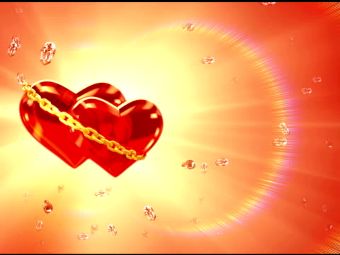 two hearts in love - left side (loop, ntsc) - in the loop 2009 film stock videos and b-roll footage