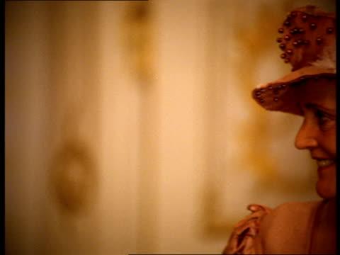 stockvideo's en b-roll-footage met two high-class women speak at a party. - 18e eeuw