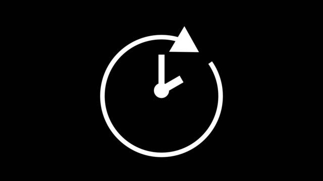 two hour, stopwatch animated icon clock with moving arrows simple animation. time counter symbol stock video - time stock videos & royalty-free footage