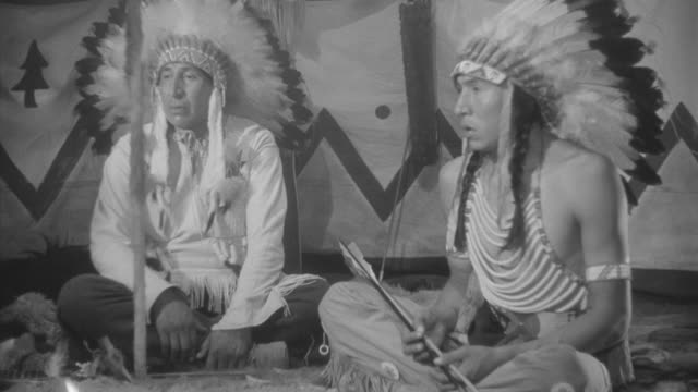 ms two indian chiefs at pow wow - chief leader stock videos & royalty-free footage