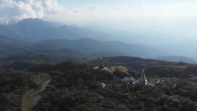 doi inthanon temple, chiang mai - chiang mai province stock videos & royalty-free footage