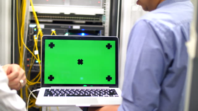 two it technicians ,green screen - administrator stock videos and b-roll footage