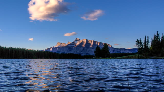 two jack lake in dawn - named wilderness area stock videos & royalty-free footage